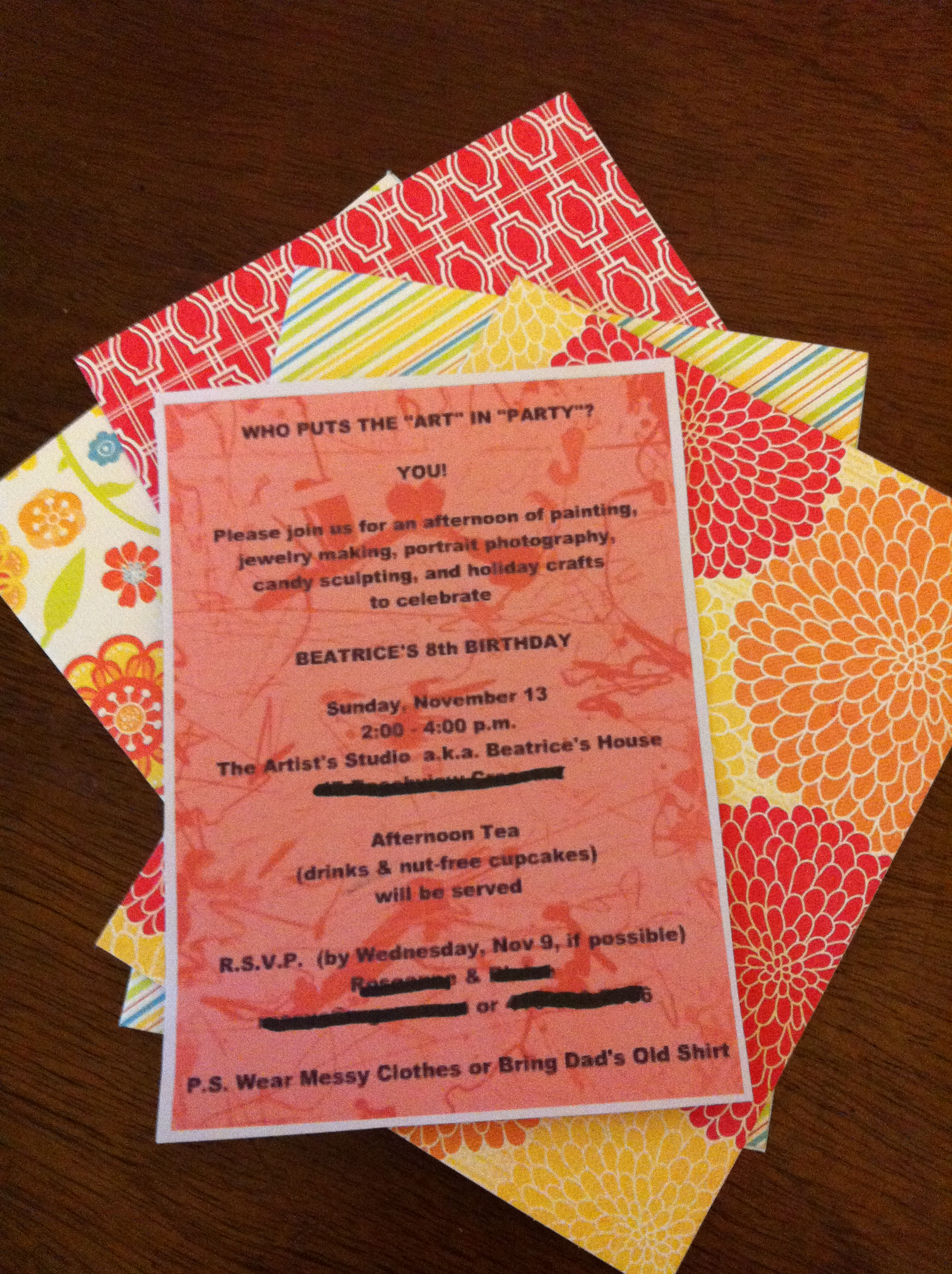 BIRTHDAY pARTy: Invitations and Ideas | THE LUNCHBOX SEASON