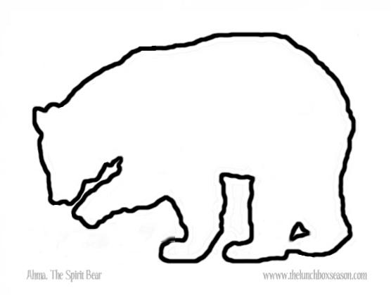 printable PDF files of the outlines: Ahma The Spirit Bear Printable ...
