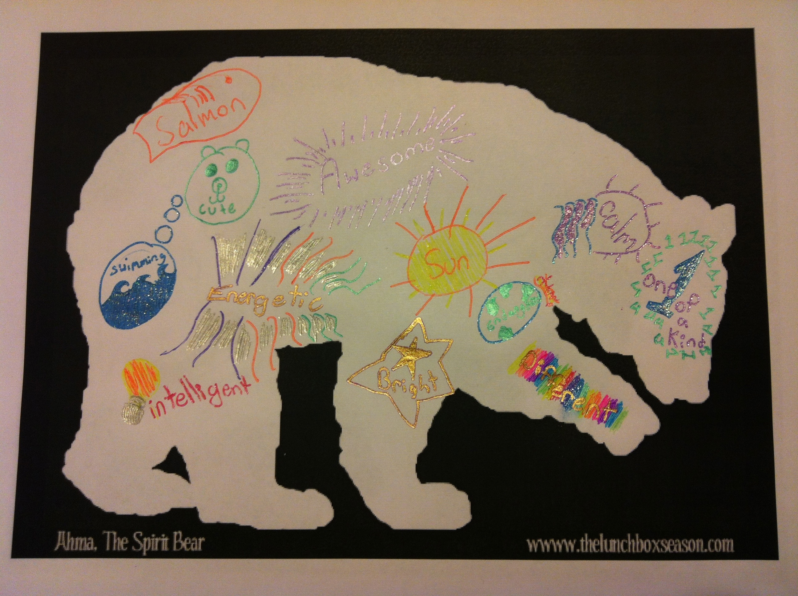 Here Are Some Blank Spirit Bear Silhouettes For You To Copy Save Resize Print And Colour In Your Way