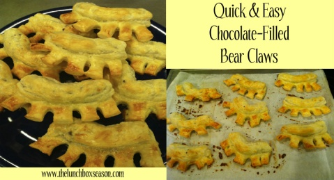 Quick & Easy Chocolate-Filled Bear Claws
