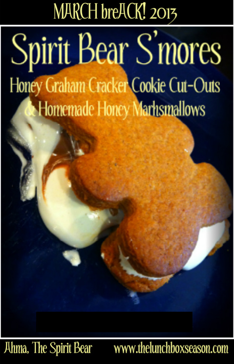 2013 Spirit Bear Smores Honey Graham Cracker Cookie Cut Outs And Marshmallows From Scratch