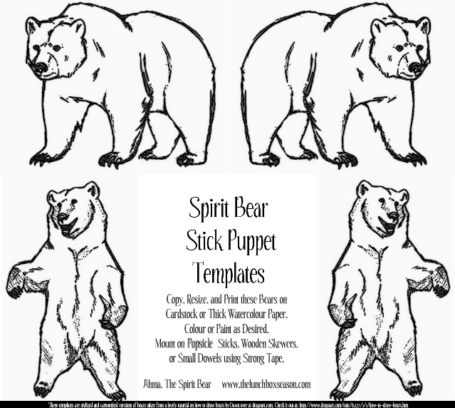 MARCH breACK! 2013: Spirit Bear Stick Puppets and Finger ...