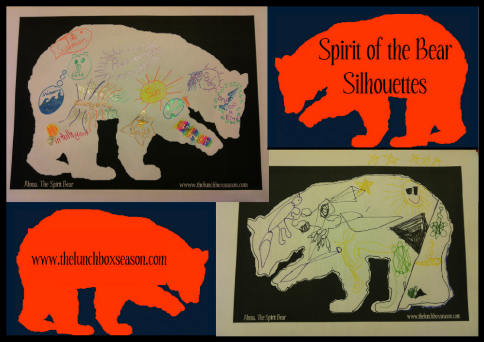 Spirit Of The Bear Silhouettes By Lunchbox Season With A Free Blank Printable For Your