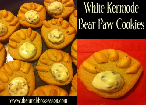 White Kermode Bear Paw Cookies Recipe from TheLunchboxSeason